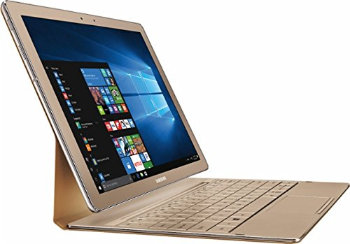 Samsung Galaxy TabPro S 12' Full HD+(2160x1440) High Performance TouchScreen Convertible 2-in-1 Laptop, Intel Core M3, 8GB RAM, 256GB SSD, Win10, Gold