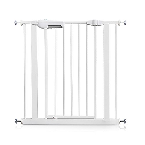 Price comparison product image Extra Wide Baby Gates for Stairs Doorways,  Wall Protector White Metal Pet Gate with Cat / Dog Door,  75-204cm (Size : Width 160-169cm)