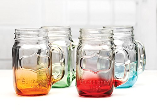 green mason jars with handles - 9