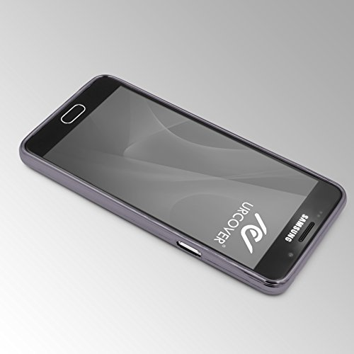 Urcover® Apple iPhone 6 Plus / 6s Plus Back-Case Handy Schutz-Hülle Metall Optik Silikon in Schwarz TPU Cover Smartphone Zubehör Tasche flexible Ultra Slim Handyhülle