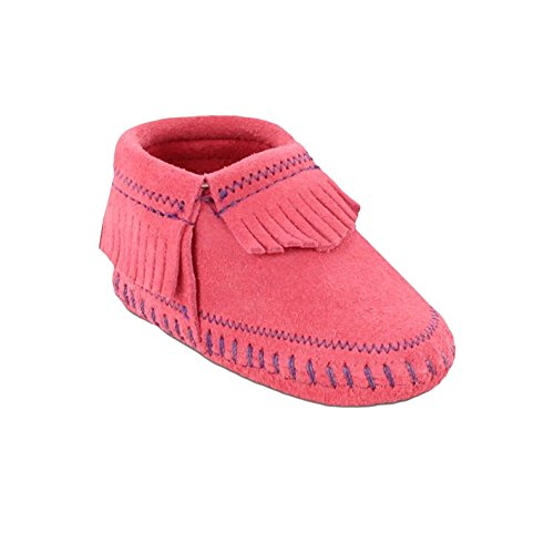 Minnetonka Riley Bootie, Mocasines para Bebés Rosa (Hot Pink)