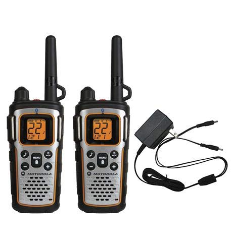 Motorola MU350R 35-Mile Range 22-Channel FRS/GMRS Two Way Bluetooth Radio Weatherproof (Grey)