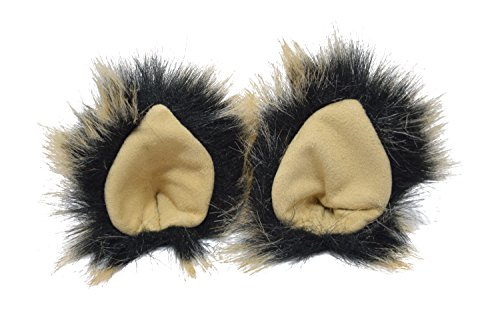 [KritterKlips Handmade Fun Animal Ears For Dress Up (Black Magic)] (Woman Lioness Costume)