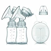 Breast Pump Electric Double Breastpumps Safe Milk Storage Bottle Dual Control Milk Suction and Breast Massager Breast Care For Breastfeeding