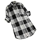 YKARITIANNA Summer New Womens O-Neck Lattice Print Long Sleeve Buttons Casual Tops T-Shirt Blouse