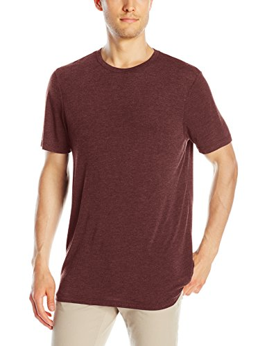 (Michael Stars Men's Short Sleeve Bamboo Jersey Crew-Neck T-Shirt, Malbec Large)