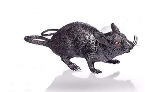 A&T Designs Black Rat Plastic Halloween Decoration - Squeaks! Creepy! Party Haunted House Graveyard Scene Prop -