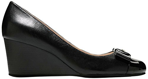 Cole Haan Womens Elsie Bow Wedge 65mm 11 Black Leather by Cole Haan