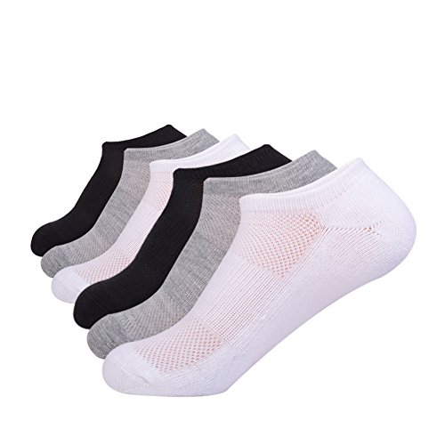No Show Athletic Womens Cushion Socks with Breathable for Running 4/6 Pairs