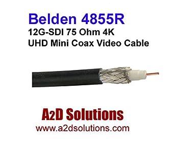 Belden 4855R - Cable coaxial 4K de Alta definición para 12G-SDI ...