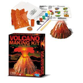 Children's Volcano Science Kit: your very own volcano will really erupt with bubbly, fizzy lava.