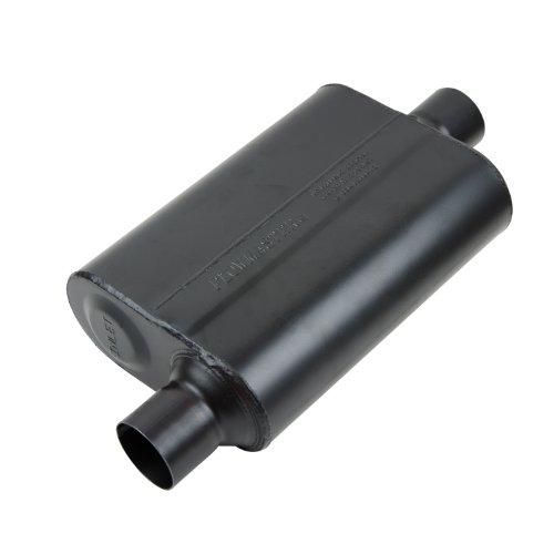 Flowmaster Super 44 Delta Flow Muffler (Flowmaster 942546 Super 44 Muffler - 2.50 Offset IN / 2.50 Center OUT - Aggressive Sound)