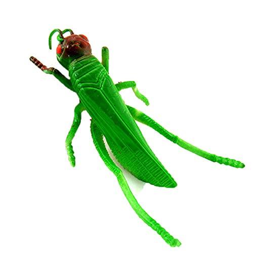 5Pcs/Set Luminous Plastic Green Halloween Prank Simulation Locust Toy]()