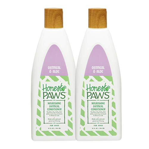 Honest Paws Natural Nourishing Oatmeal Dry Skin Dog Conditioner for All Dogs and Puppies, Pack of 2 | Best Dog Skin Conditioner for Dry Itchy Skin