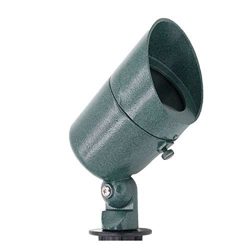 Lumina Lighting Hooded Spot Light, Green Finish