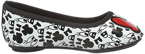 Disney Minnie MouseGirls Kids Classic Ballerinas - Bailarinas Niñas Blanco - Weiß (Wht/Red 119)
