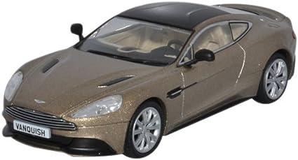 Amazon Com Aston Martin Vanquish Coupe Metallic Beige Black Rhd 0 Model Car Toys Games
