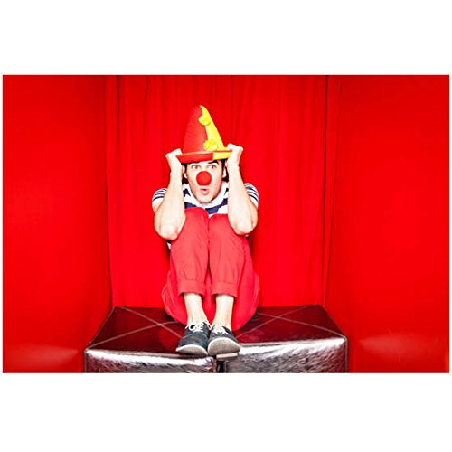 Glee Darren Criss dressed as a clown in booth 8 x 10 Inch Photo]()