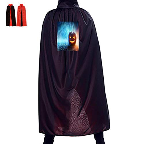 Ghosts, Smiley Faces, Pumpkins Double Hooded Robes Cloak Knight Cosplay Costume -
