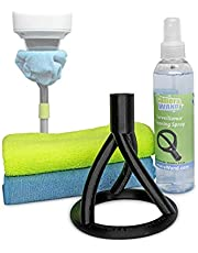 Surveillance/Security Camera Cleaning Tool - Safely from The Ground - with Cleaning Solution & Re-usable Microfiber Towels
