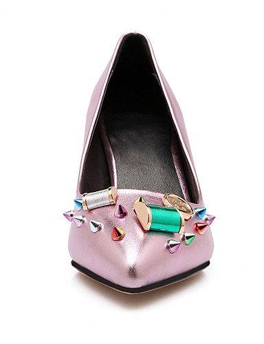 amp; Tac¨®n en la de Mujeres de 3in la Punta Dedo de Zapatos Home Las Textiles del Zapatos ZQ 3 Fiesta Boda Tac¨®n de de Novedad de 4in pink 3 3 3in Aguja Talones 3 pie del 4in silver qxpO10w