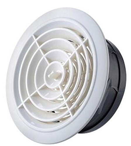 75mm Round White Ceiling Air Vent Register Diffuser,Ducted Heater Aircon Ceiling Outlet Vent/Air inlet Circular air (Inlet Grille)