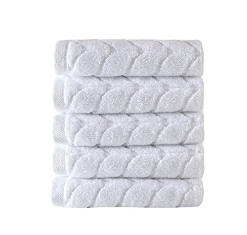 Bagno Milano Jacquard-Woven Towels – Ultra-Absorbent & Fast-Drying Spa Towels – Non-GMO Turkish Cotton Towels – Durable & Plush Luxury Towels – Eco-Friendly Towels – Soft Spa Towel Bundle- W
