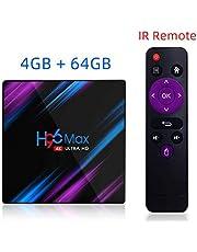 صندوق تلفاز Sausiry H96 MAX Android 9.0 4GB RAM / 32GB ROM Quad Core 64-bit ثلاثي الأبعاد / 4K ستيريو HD يدعم صورة USB 3.0 / BT 4.0 / 2.4G 5G واي فاي الذكي SA-H96 MAX