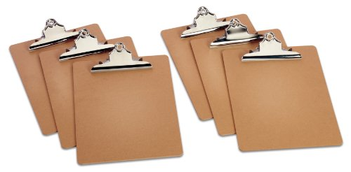 TOPS Masonite Clipboards, 9 x 13 Inches, Pack of Six (25400) by Tops