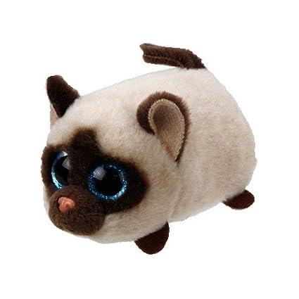 amazon com ty teeny tys kimi siamese cat plush toys games