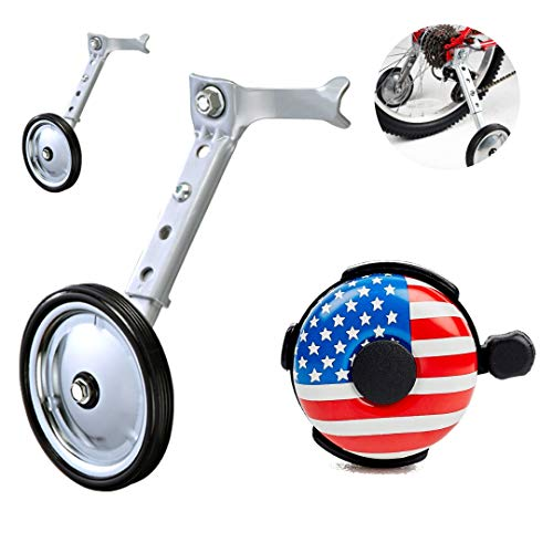 Ciao! Sports & Outdoors Adjustable Variable Speed Bicycle Training Wheels for Girls Boys 16 18 20 22 24 Inch. A Perfect stabilizer Accessories Package for Kid (Metal) (Best Bike Wheel Brands)