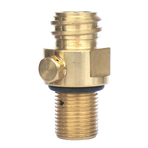 CO2 Tank Brass Soda Pin Valve Soda Water Inflation Gas Valve Parts Thread Replacement for Soda Stream (height 100mm,copper) -