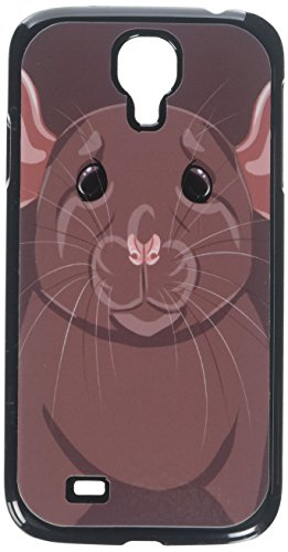 Dumbo Rat - Graphics and More Rat Dumbo Fancy Gray Pet Mouse Snap-On Hard Protective Case for Samsung Galaxy S4 - Non-Retail Packaging - Black