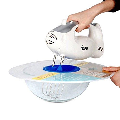 HITSAN Practical Eggs Mixer Anti Splash Lid Egg Bowl Whisks Screen Cover Beat Cylinder Baking Splash Guard One Piece