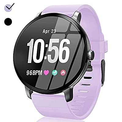 Smart Watch, Fitness Tracker 1.3'' Touchscreen Waterproof with Heart Rate Monitor Blood Pressure Blood Oxygen Camera Running GPS Tracker Sport Band Easter Gifts for Android/iOS