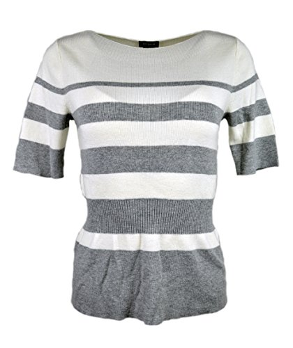 ann-taylor-womens-striped-short-sleeve-ribbed-peplum-sweater-grey-white-large