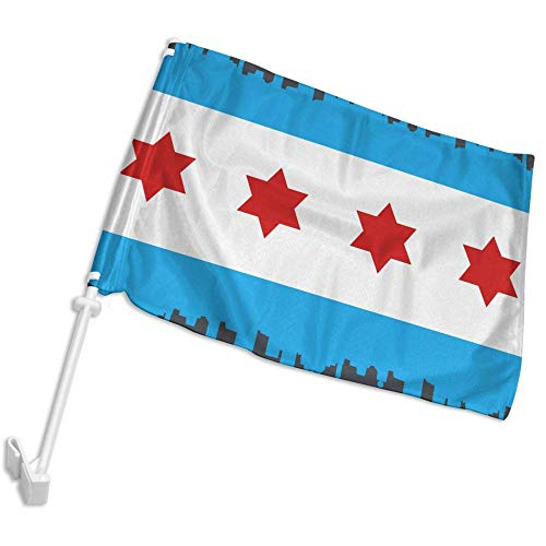 DAFAFA Chicago City Flag Skyline Car Flags Perfect