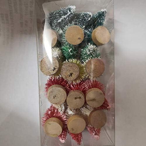 Taohou Mini decoración de Escritorio con Luces de árbol de Navidad Ligeras, pequeñas y Bonitas, Verde, 4,5 cm