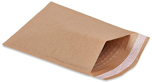 25 Pack Kraft padded envelopes 7.25 x 7 Bubble Mailers 7.25x7 CD size mailers Peel and Seal. Brown padded shipping envelopes for mailing, packing. Square packaging. Bulk, wholesale. Wholesale Packaging Materials