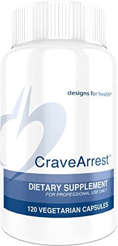 Designs for Health CraveArrest - 1000mg L-Tyrosine + 100mg 5-HTP for Serotonin + Dopamine Support (120 Capsules)