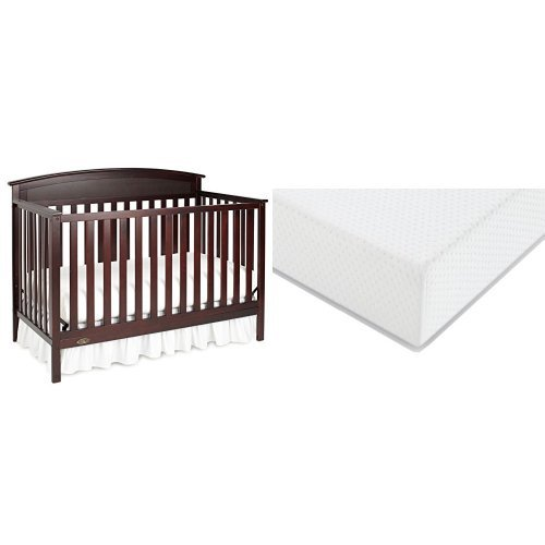 Graco Benton Convertible Crib Graco Premium Foam Crib and Toddler Bed Mattress, Espresso