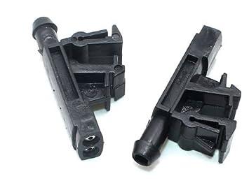 2 boquillas pulverizadoras para propulsor de chorro de bomba para limpiaparabrisas: Amazon.es: Coche y moto