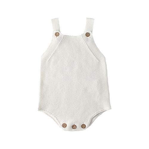 10c3a992878c1 ZooArts ベビー ニット ロンパース 女の子 男の子 ニットセーター カーディガン 新生児服 シンプル 無地 かわいい カバーオール 赤ちゃん