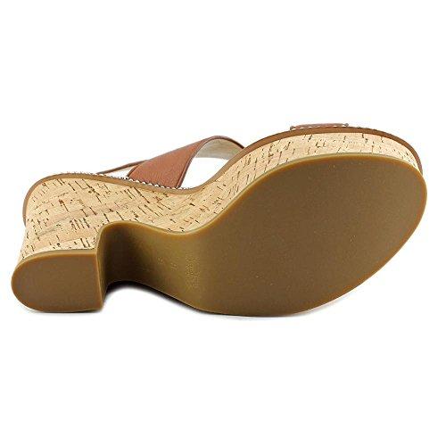 Coach Quartz Women Open Toe Leather White Platform Sandal Saddle dKIj7pge