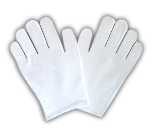 JTshop - Moisturising 98% Cotton White Sleep Gloves