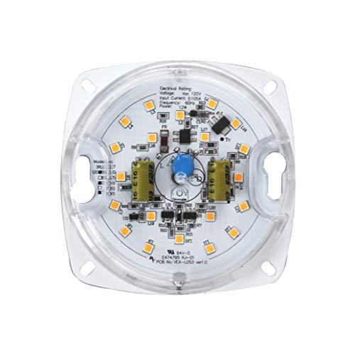 """Silverlite 3"""",10W,3000K,750LM,120V,CRI90,Dimmable LED Light Engine,Retrofit Light Kit for Ceiling Flush Light,Ceiling Fan Light,Pendant,Lantern,Garden light, 4.04"""" Corner to Corner from Silverlite"""