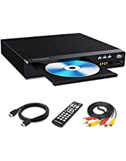 Sandoo DVD Player, Region Free DVD Player for TV, Metal Case, DVD Player for TV with Hdmi, HD 1080P, HDMI/AV Cable Included, MP2208