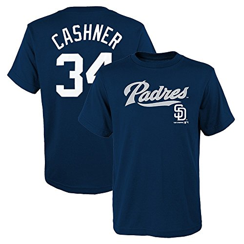 Outerstuff Andrew Cashner MLB San Diego Padres Player Jersey Navy Blue T-Shirt Youth (S-XL)