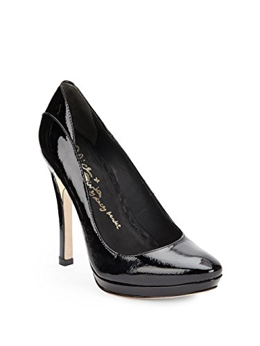 alice + olivia Women's Heeda Platform Pump (6.5 B (M) US, Black Patent Leather)