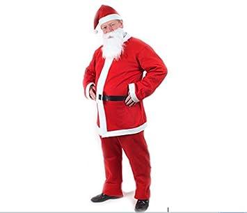 373ced62758ae Mens Six Piece Santa Costume Full Set Includes Hat Beard Jacket Trousers  Belt and Giant Santa